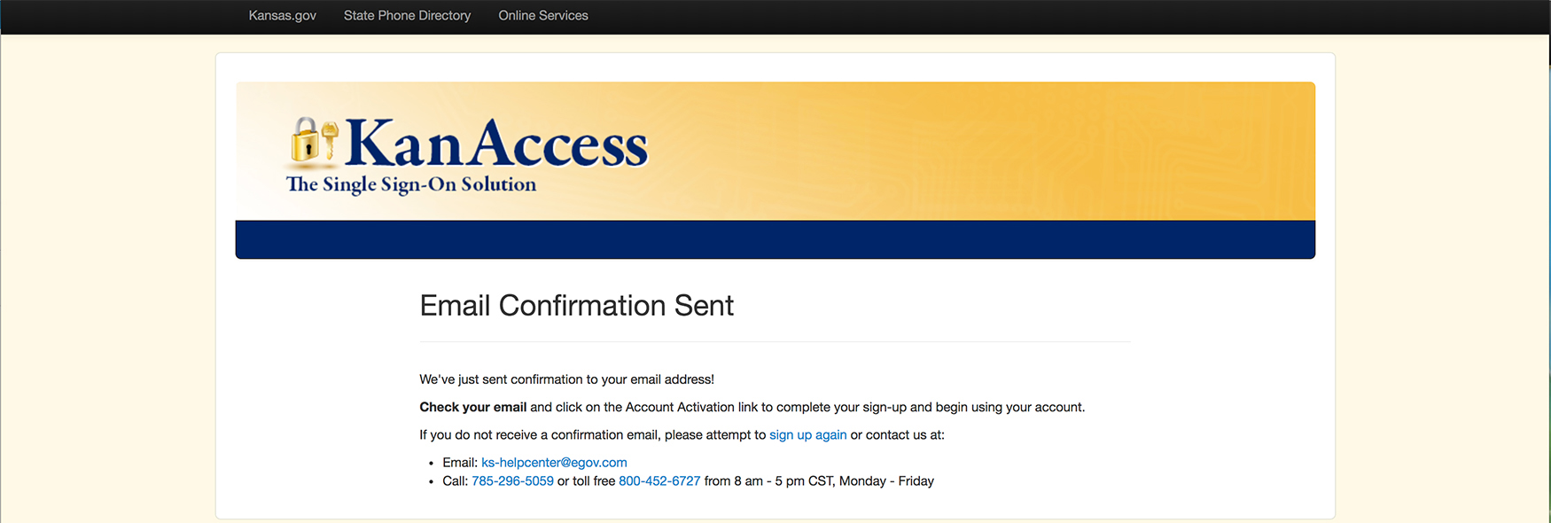 Email Sent for Account Creation